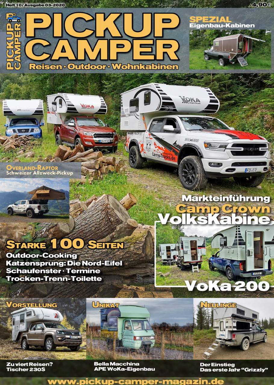 Pickup Camper Magazin Heft 10 Cover