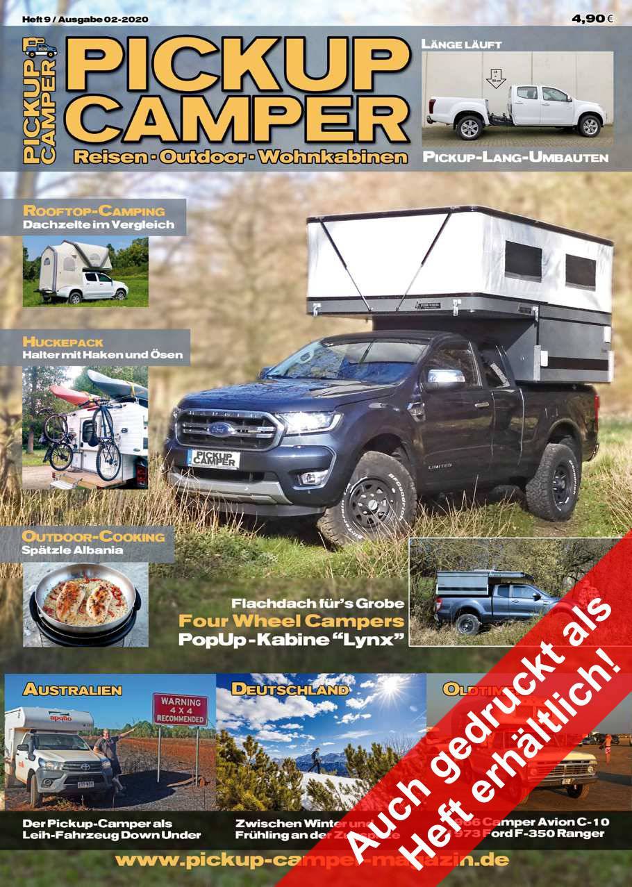 Pickup Camper Magazin Cover Heft 9