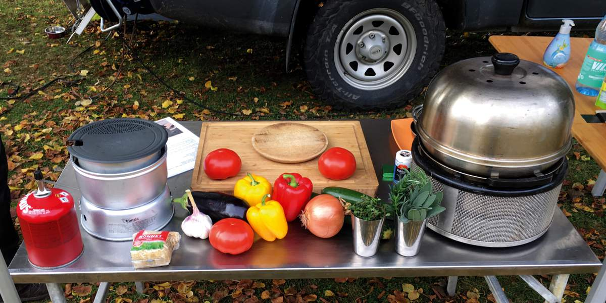 Pickup Camper magazin Outdoor Cooking