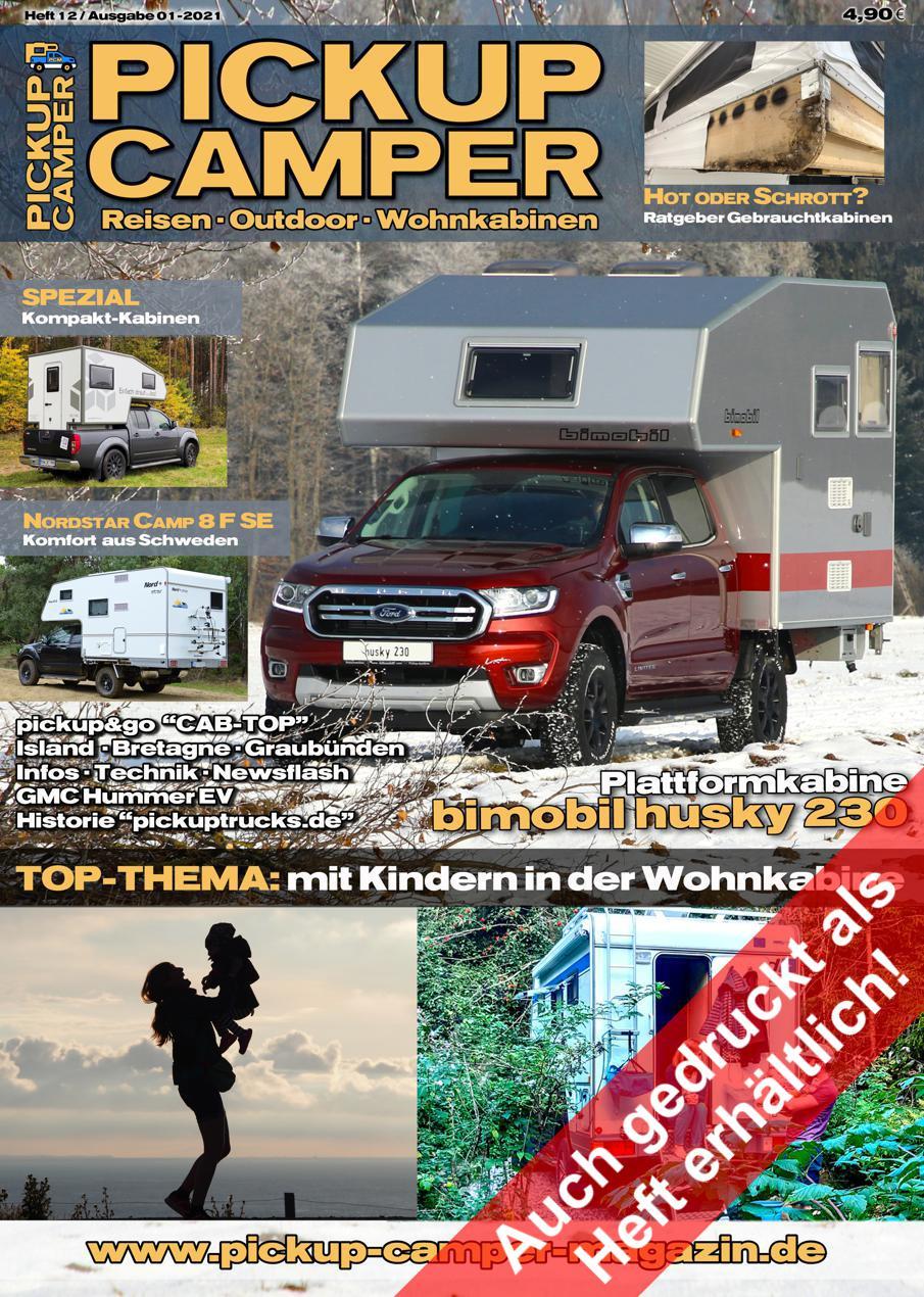PICKUP CAMPER Magazin Heft 12 Ausgabe 01-2021