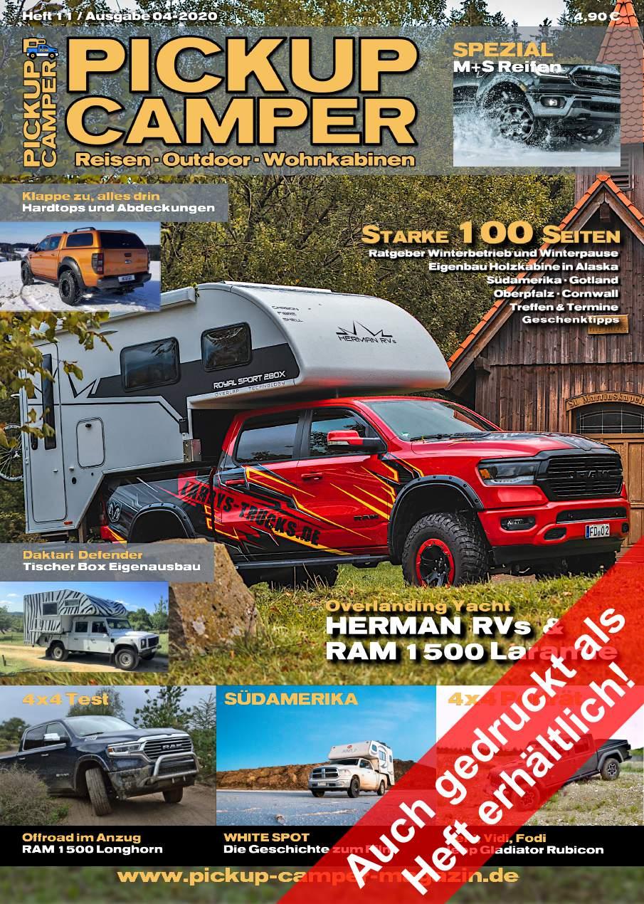 PICKUP CAMPER Magazin Heft 11 Ausgabe 04-2020