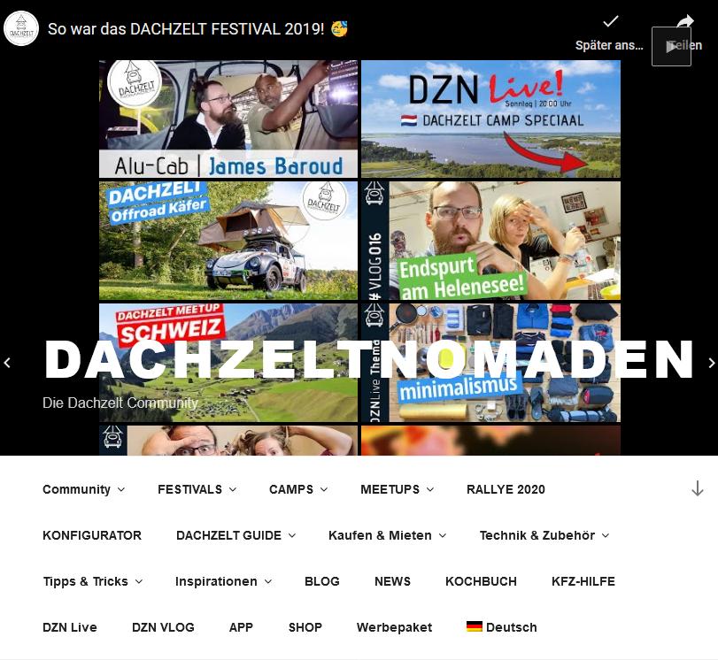 Dachzeltnomaden Internetseite