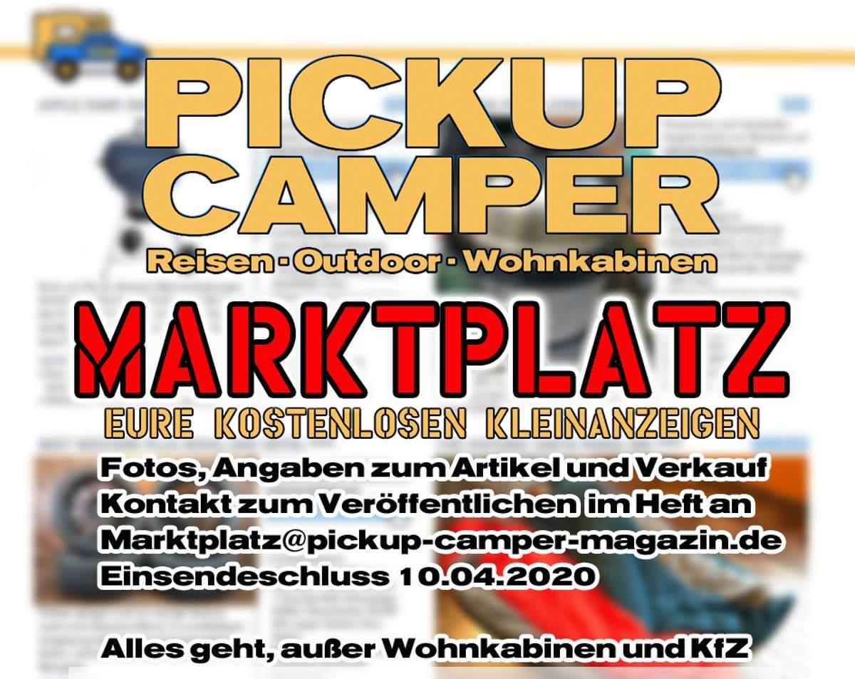 Pickup Camper Magazin Marktplatz